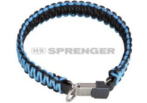 HS Sprenger PARACORD-HALSBAND schwarz/blau - REFLEKTIEREND
