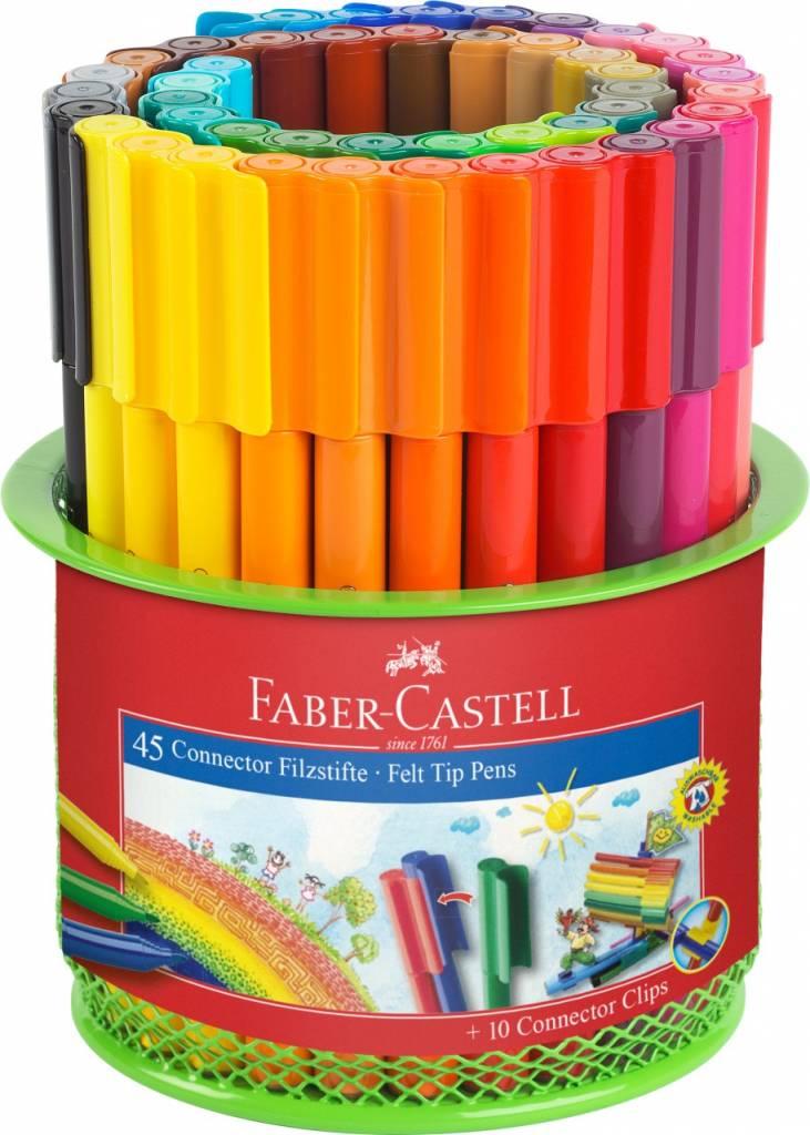 Faber-Castell Faber Castell CONNECTOR Filzstift Köcher 45teilig