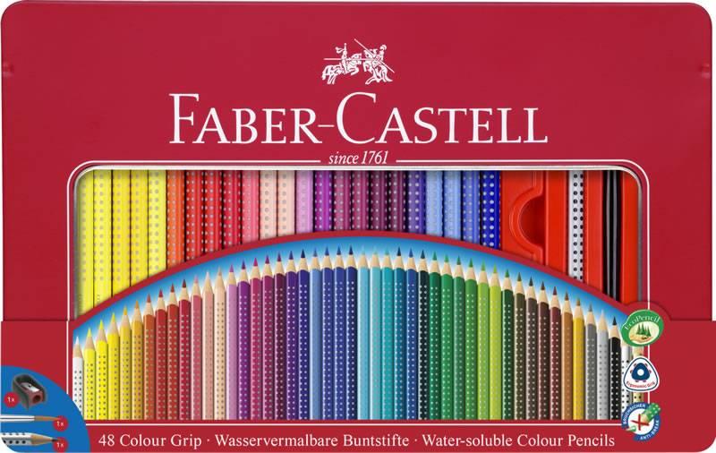 Faber-Castell Faber Castell Colour Grip Bunstifte 48Stk in Metalletui