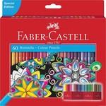 Faber-Castell FABER CASTELL Hexagonal-Buntstifte CASTLE 60STK im Kartonetui