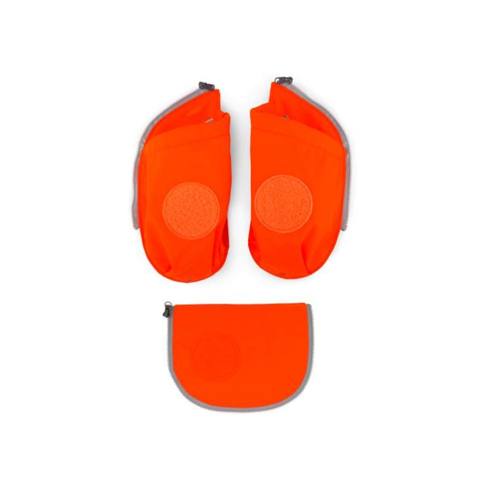 ERGOBAG ERGOBAG CUBO SEITENTASCHEN ZIP SET 3tlg orange