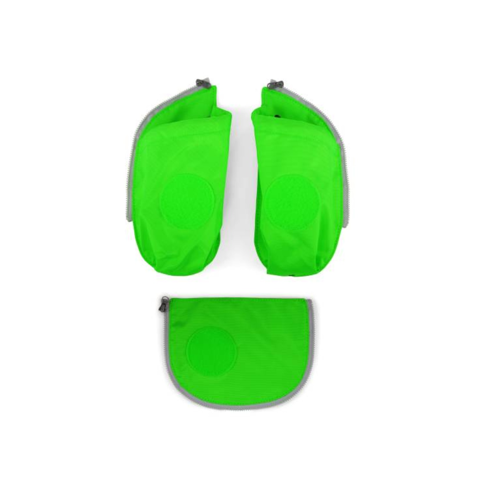 ERGOBAG ERGOBAG CUBO SEITENTASCHEN ZIP SET 3tlg grün