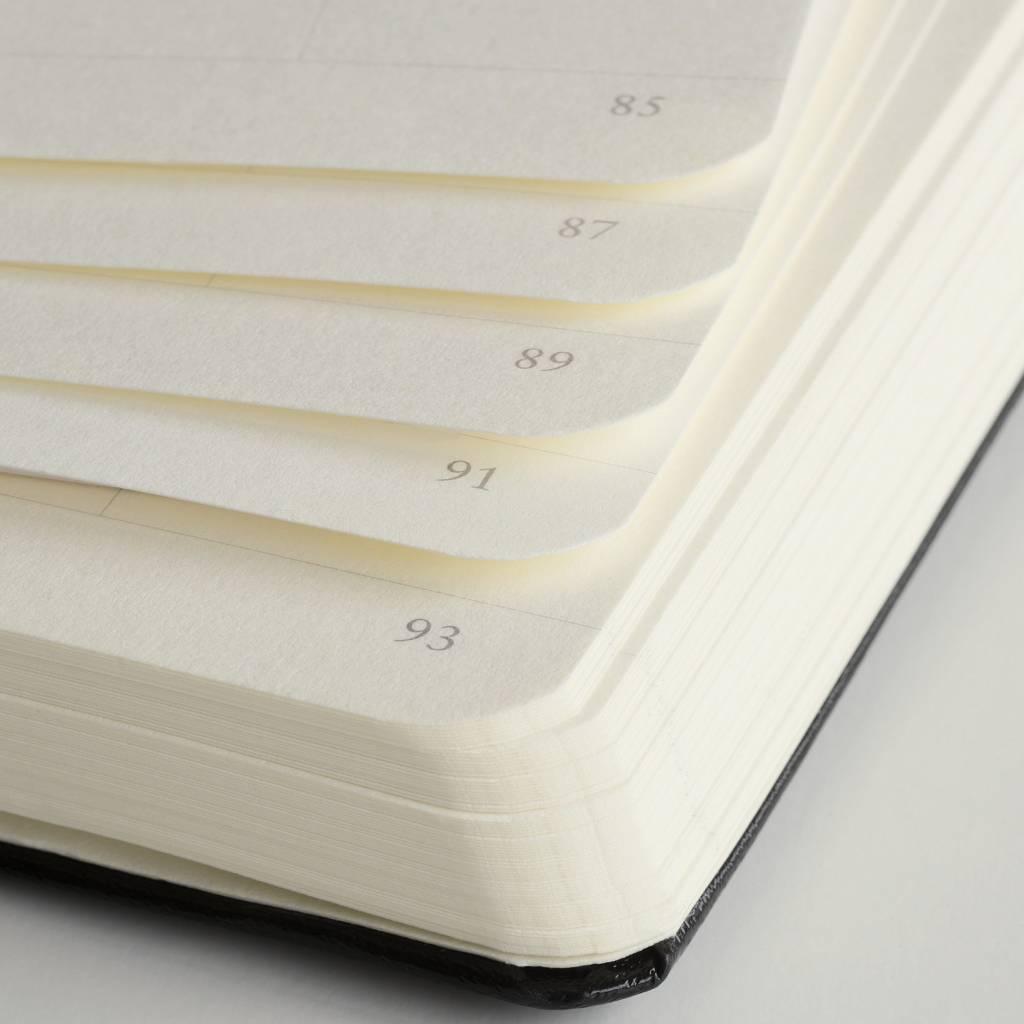 Leuchtturm Notizbuch Medium A5 Hardcover BiColore sand-rot liniert