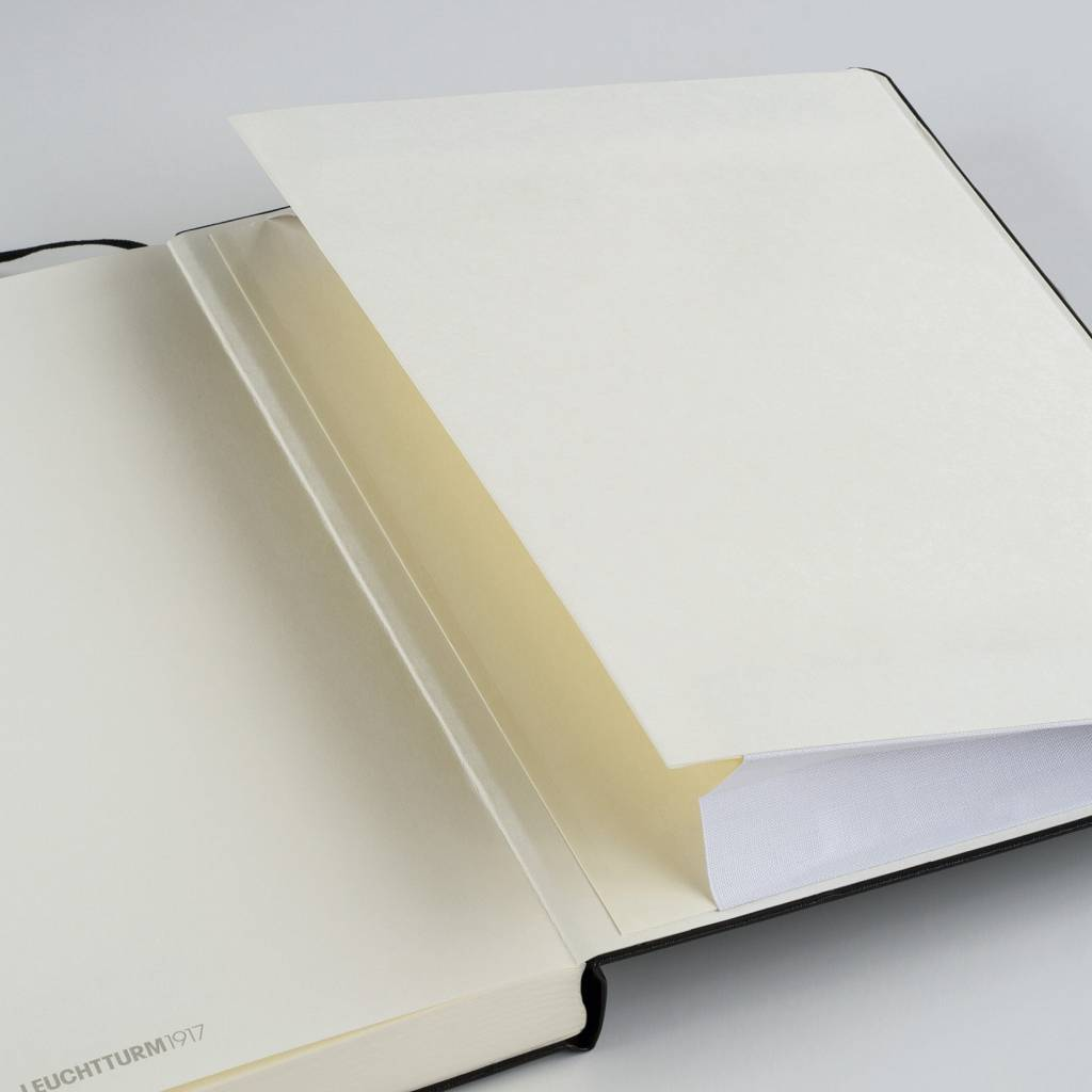 Leuchtturm Notizbuch Medium A5 Hardcover BiColore sand-rot blanko