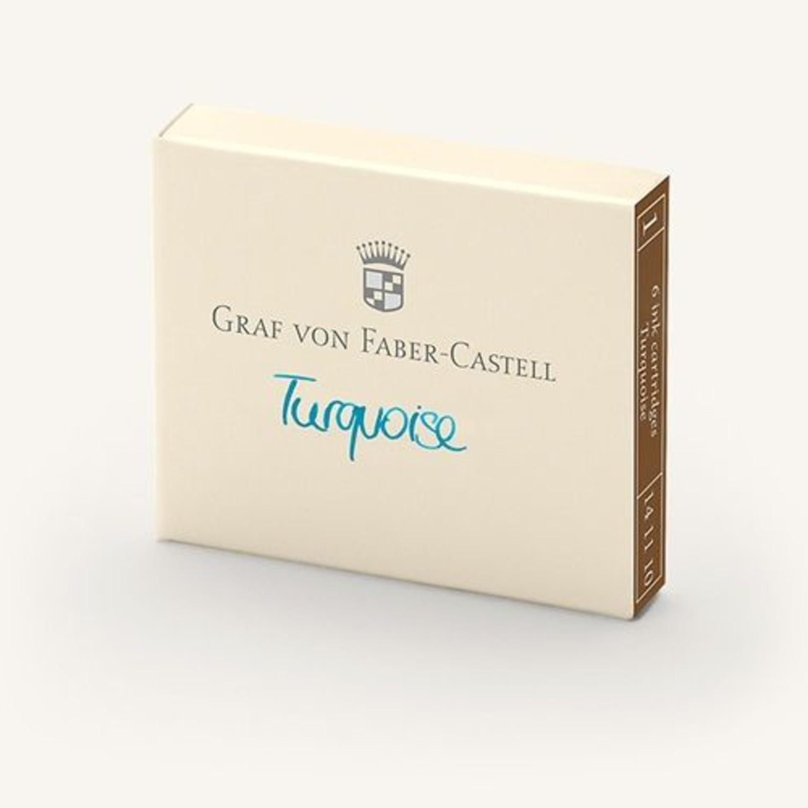 Faber-Castell Tintenpatronen Farbwelten Turquoise 6Stk
