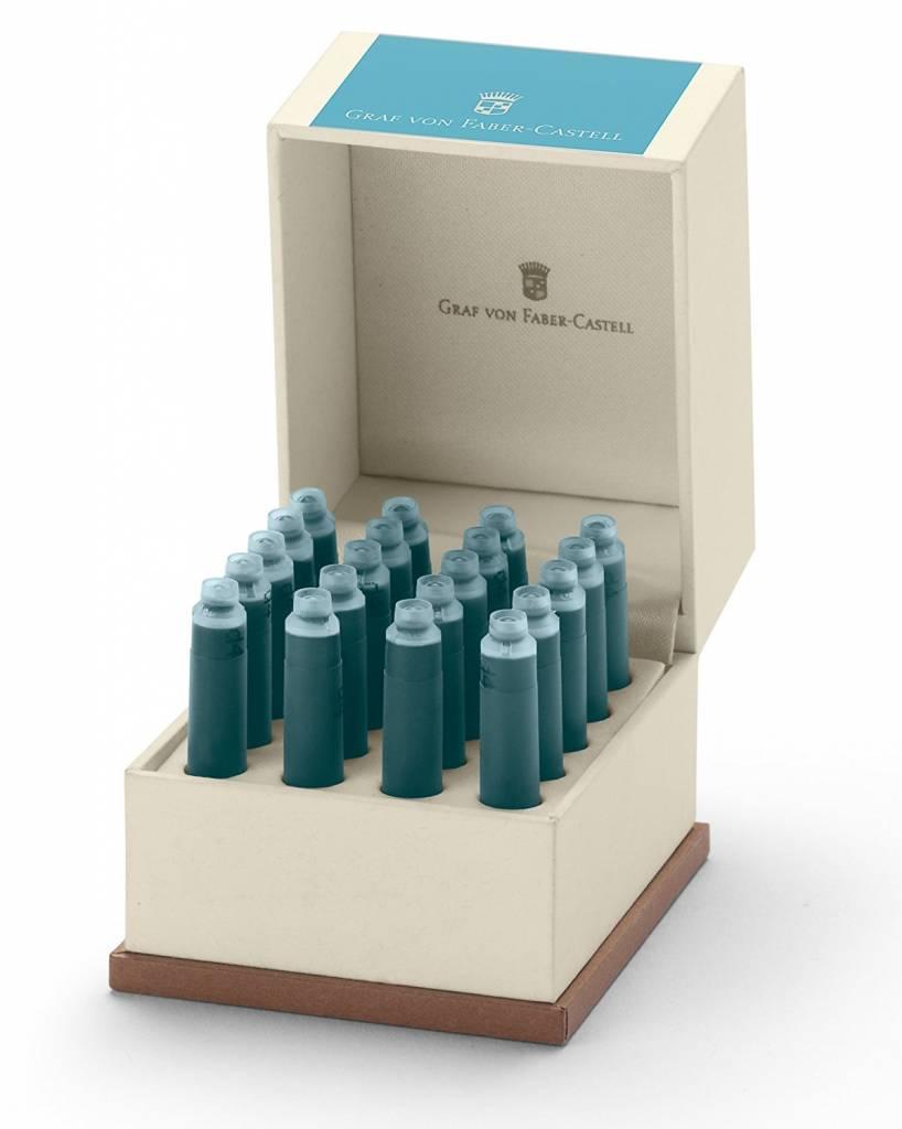 Faber-Castell GvFC Tintenpatronen Geschenkverpackung Farbwelten Turquoise 20Stk