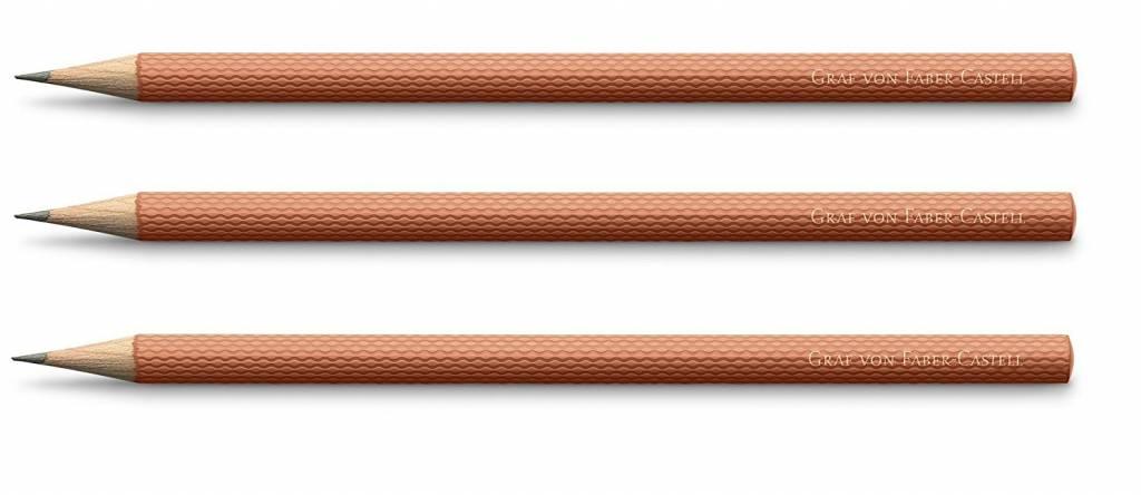 Faber-Castell Bleistifte Farbwelten Guilloche Burned Orange 3Stk