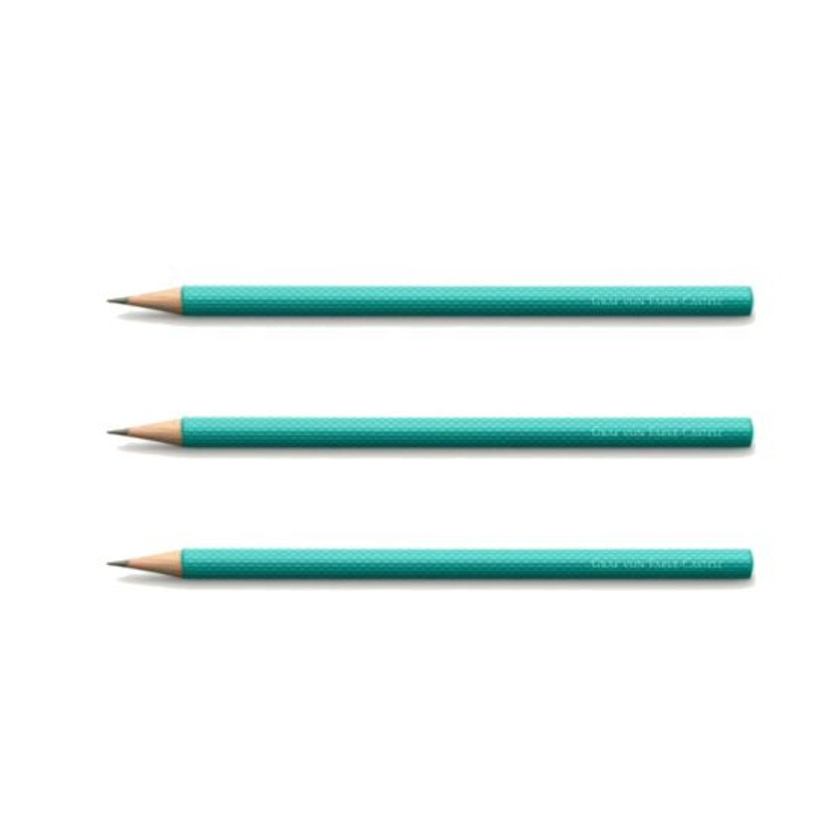 Faber-Castell Bleistifte Farbwelten Guilloche Turquoise 3Stk