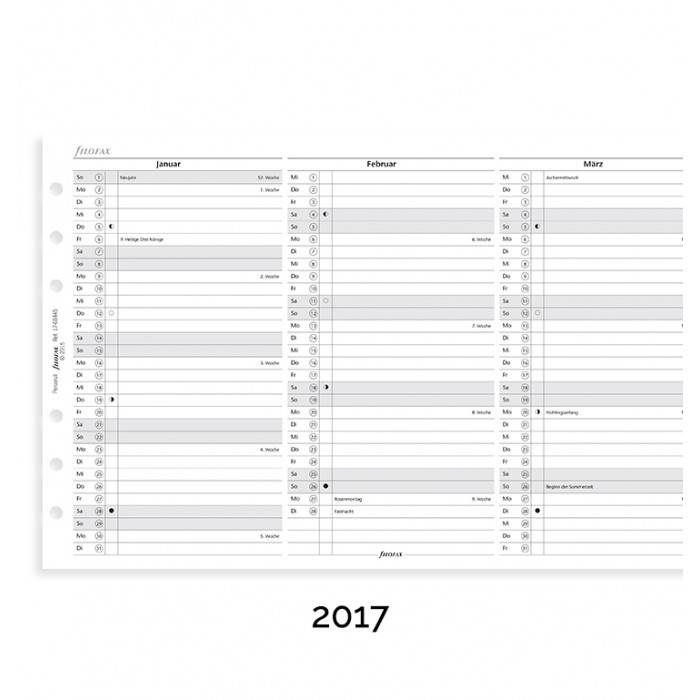 Filofax PERSONAL Jahresplaner vert. D 2020