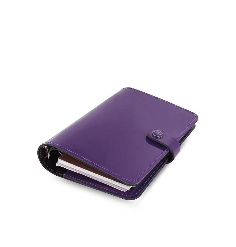 Filofax PERSONAL THE ORIGINAL Patent Purple