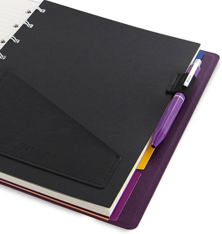 A5 NOTEBOOK CLASSIC PENHOLDER Purple