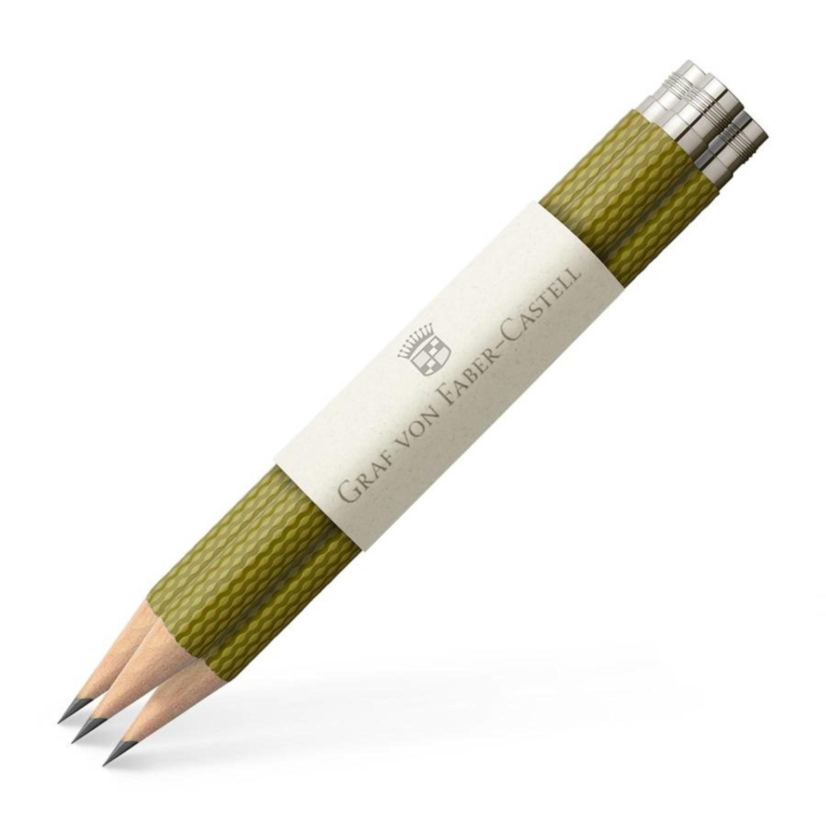Faber-Castell Graf von Faber Castell Taschenbleistift Farbwelt Olive Green 3Stk für perfekten Bleistift