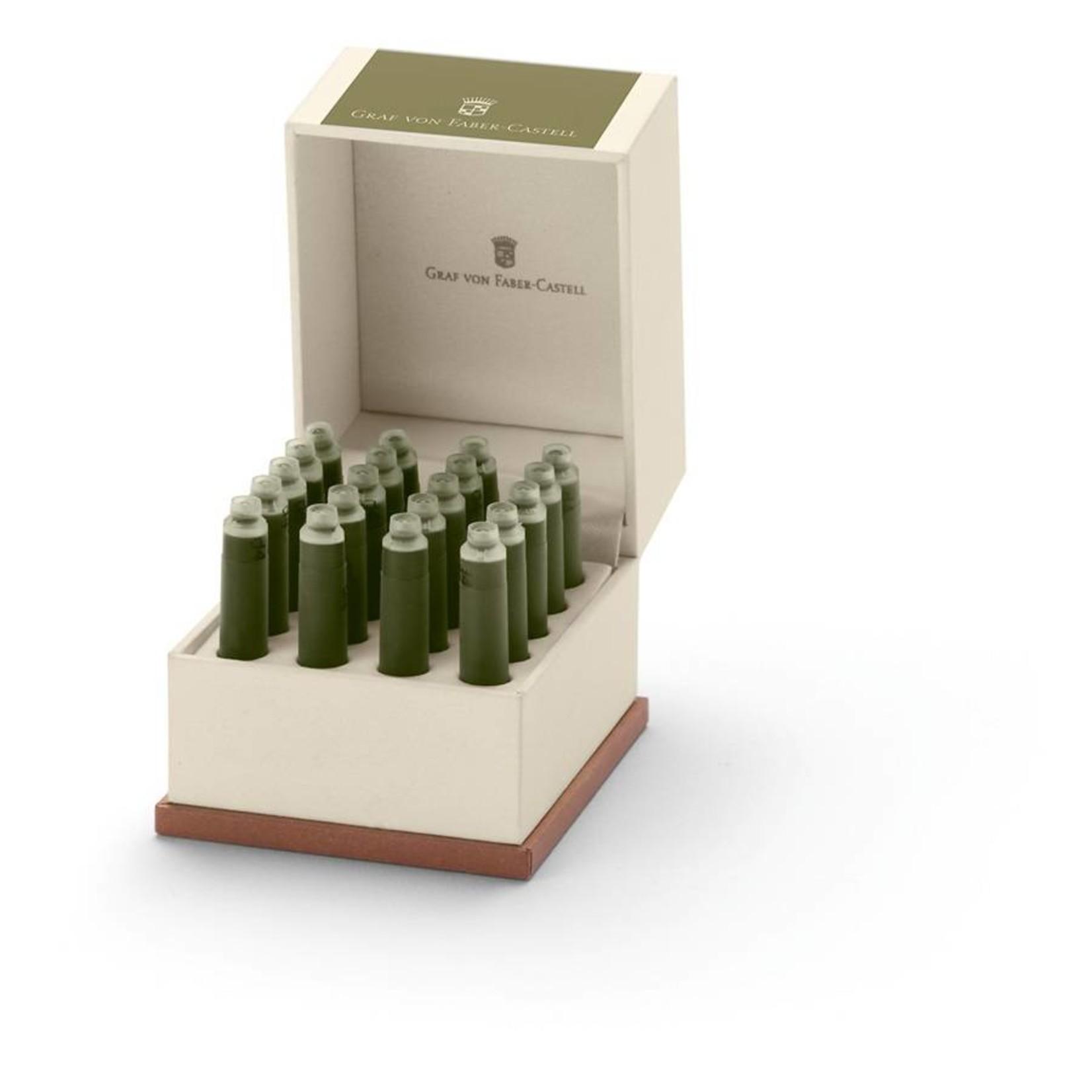 Faber-Castell Tintenpatronen Geschenkpackung Olive Green 20x