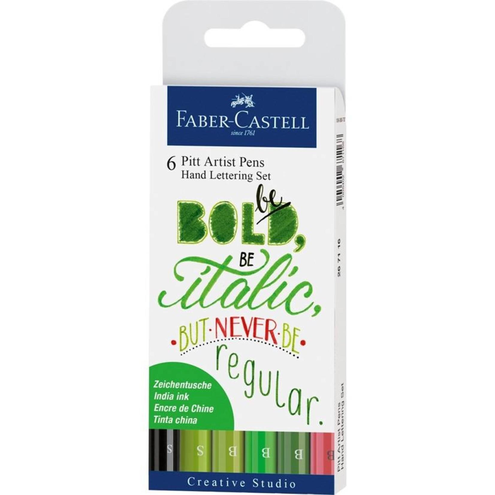 Faber-Castell Handlettering Tuschestift Pitt Artist Pen 6Stk
