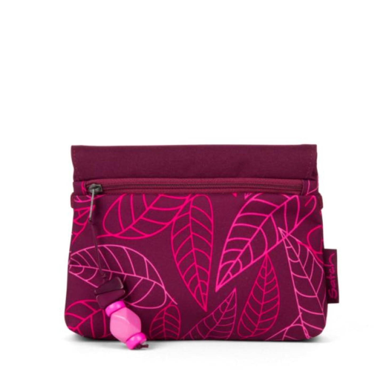 SATCH Satch KLATSCH Clutch Purple Leaves lila rosa Blätte