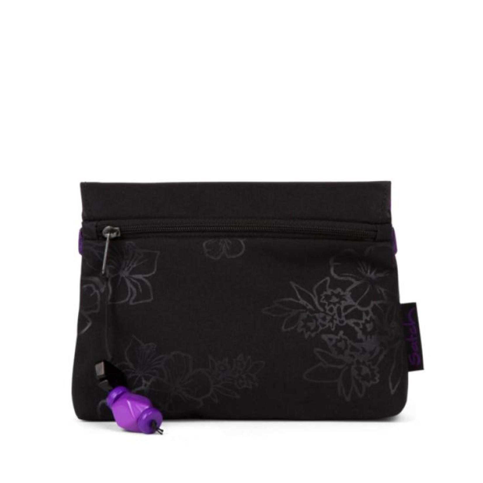 SATCH Satch KLATSCH Clutch Purple Hibiscus schwarz lila