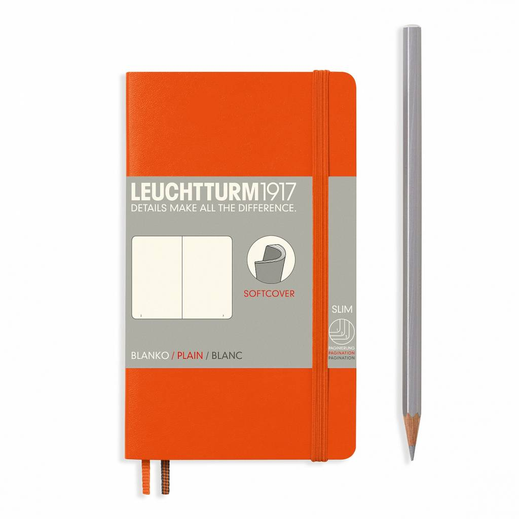 Leuchtturm1917 Notizbuch POCKET A6 SC orange blanko