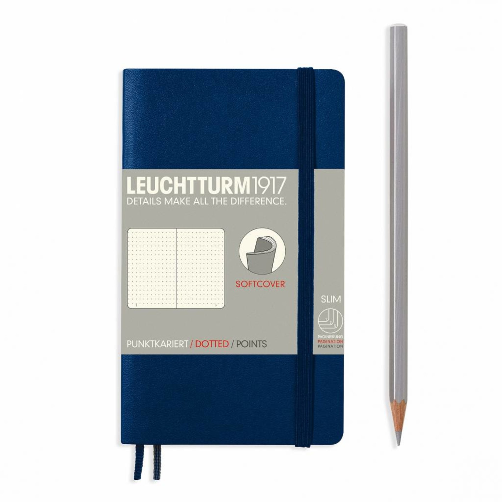 Leuchtturm1917 Notizbuch POCKET A6 SC marine dotted