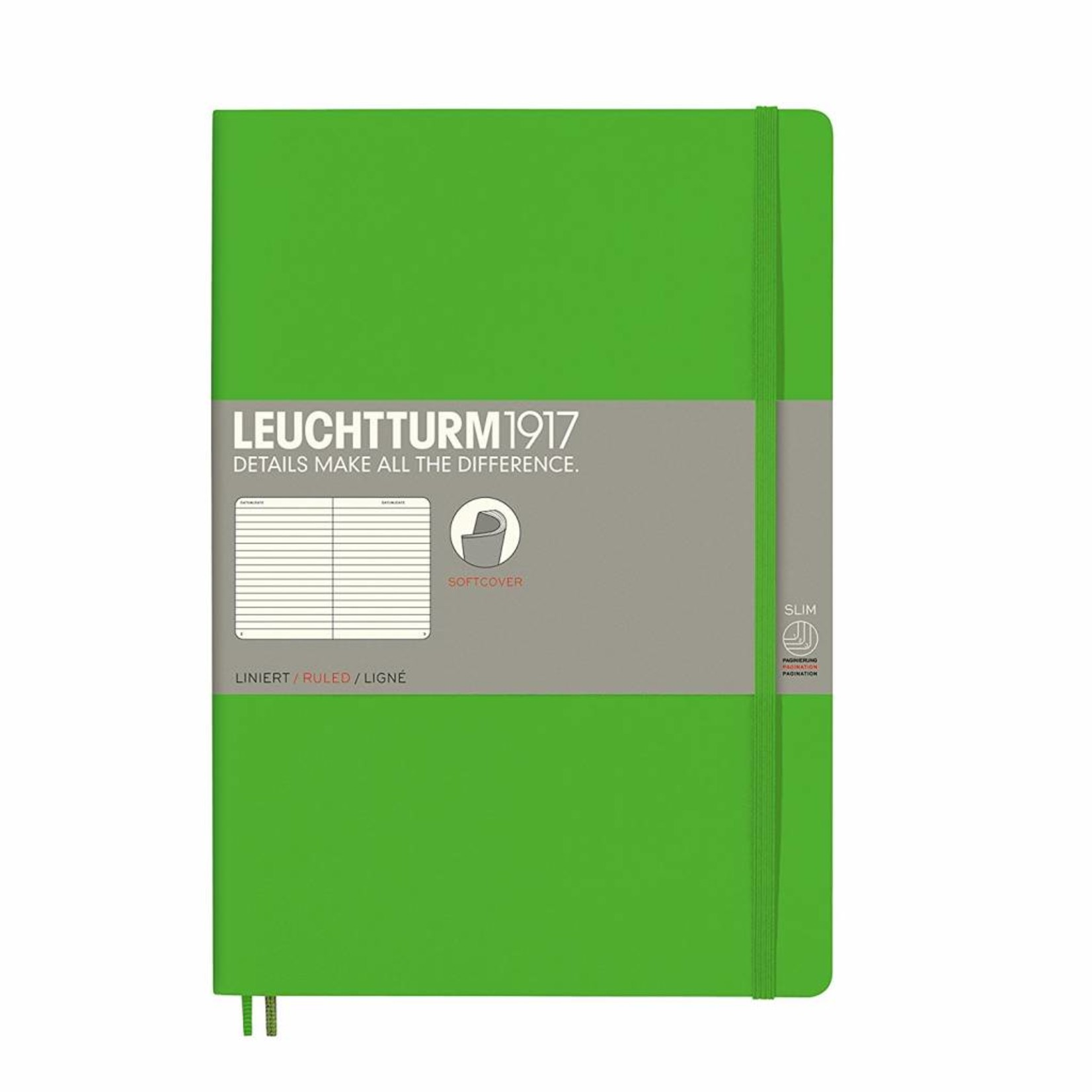 Leuchtturm1917 LT Notizbuch COMPOSITION B5 SC Fresh Green liniert