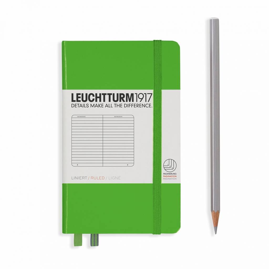 Leuchtturm Albenverlag LT Notizbuch A6 POCKET HC Fresh Green liniert