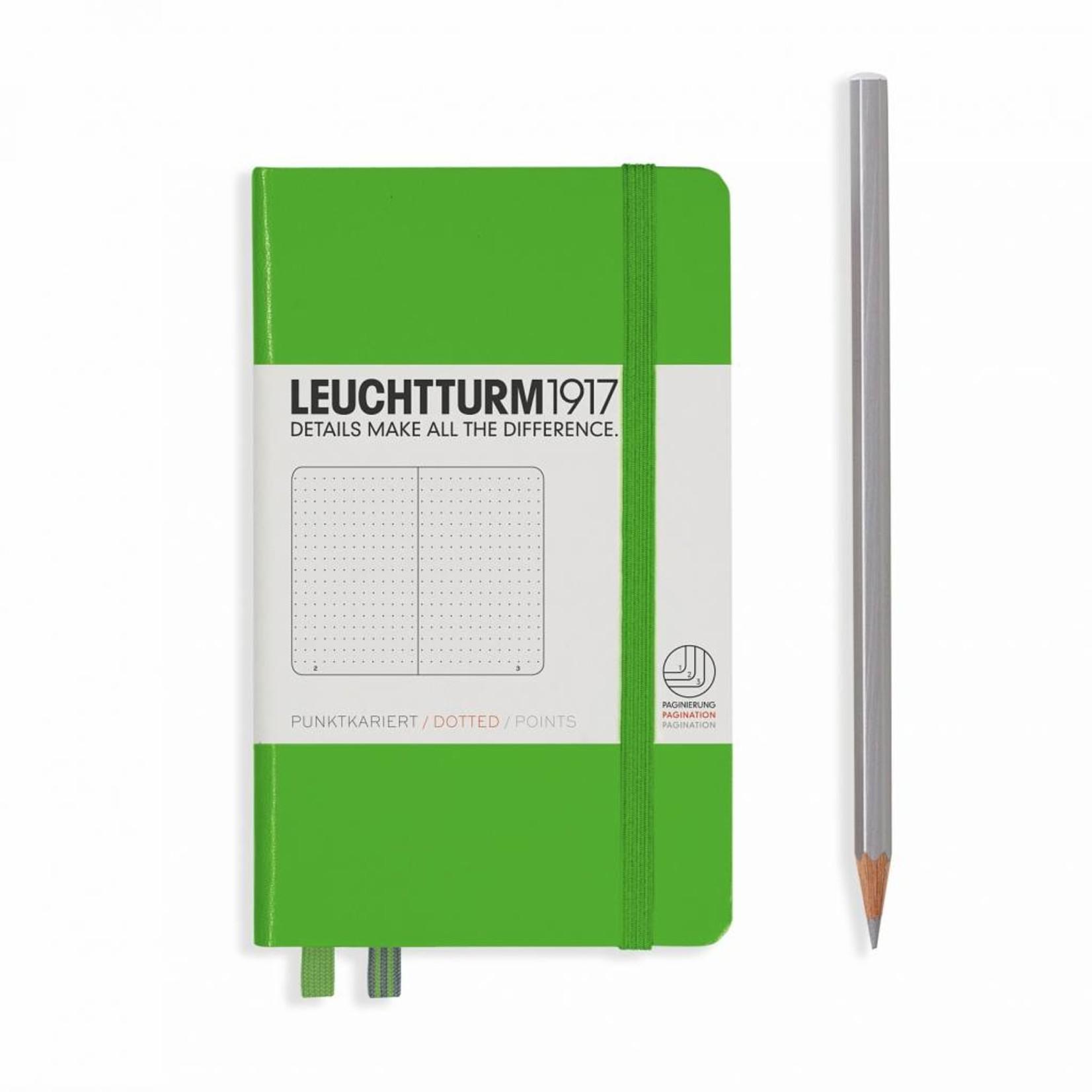 Leuchtturm1917 LT Notizbuch A6 POCKET HC Fresh Green dotted