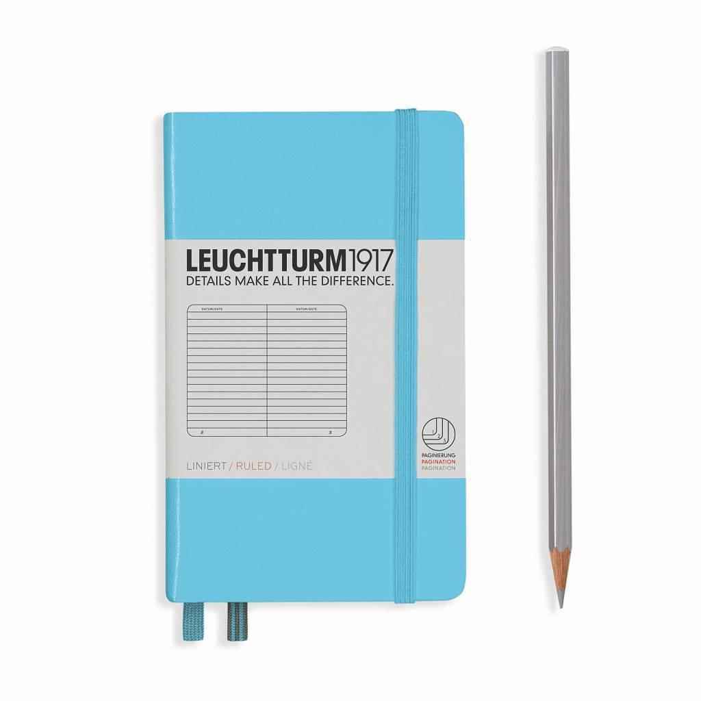 Leuchtturm Albenverlag LT Notizbuch A6 POCKET HC Eisblauliniert