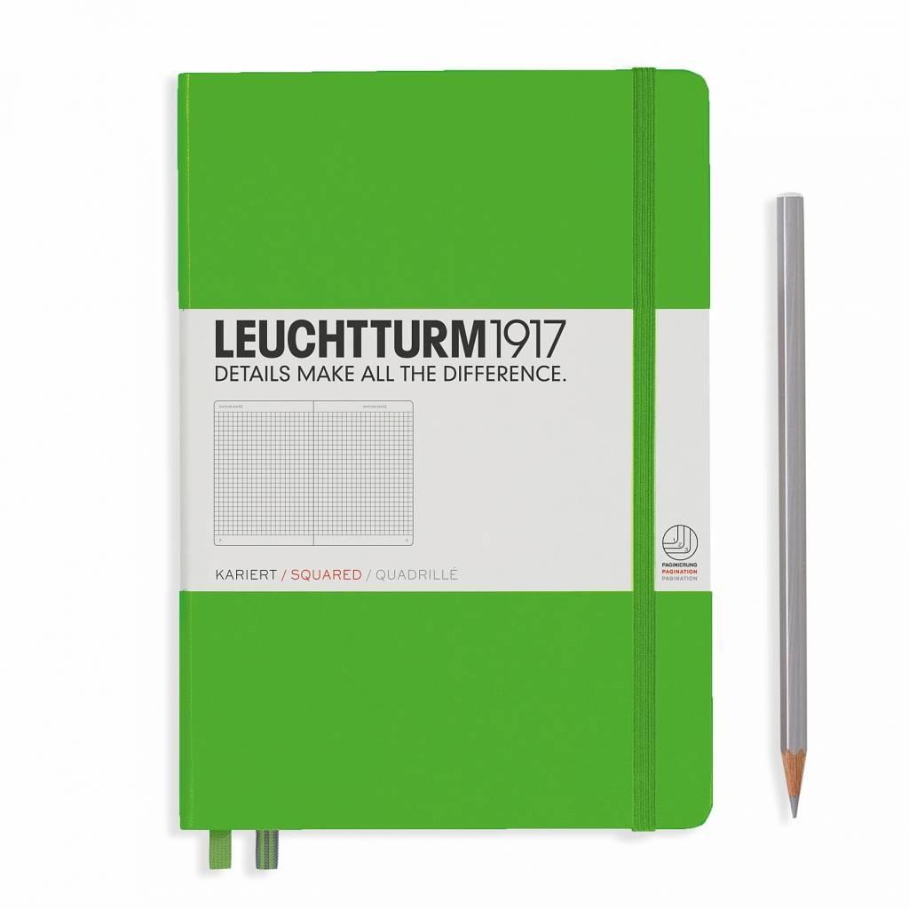 Leuchtturm Albenverlag LT Notizbuch A5 MEDIUM HC fresh Green  kariert