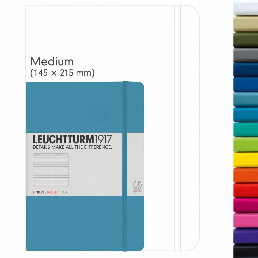 Leuchtturm Albenverlag LT Notizbuch A5 MEDIUM HC blaugrau kariert