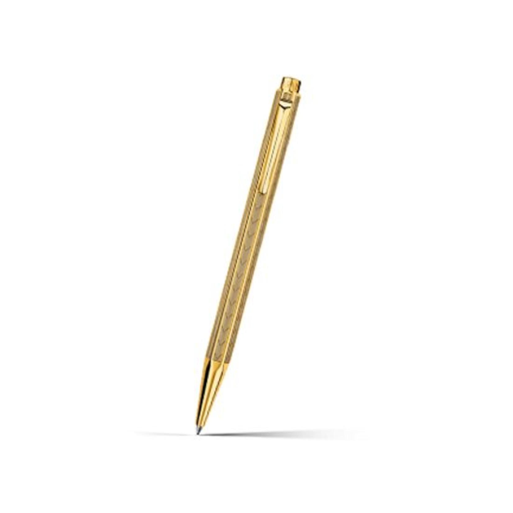 Caran d'Ache Ecridor Chevron Kugelschreiber gold