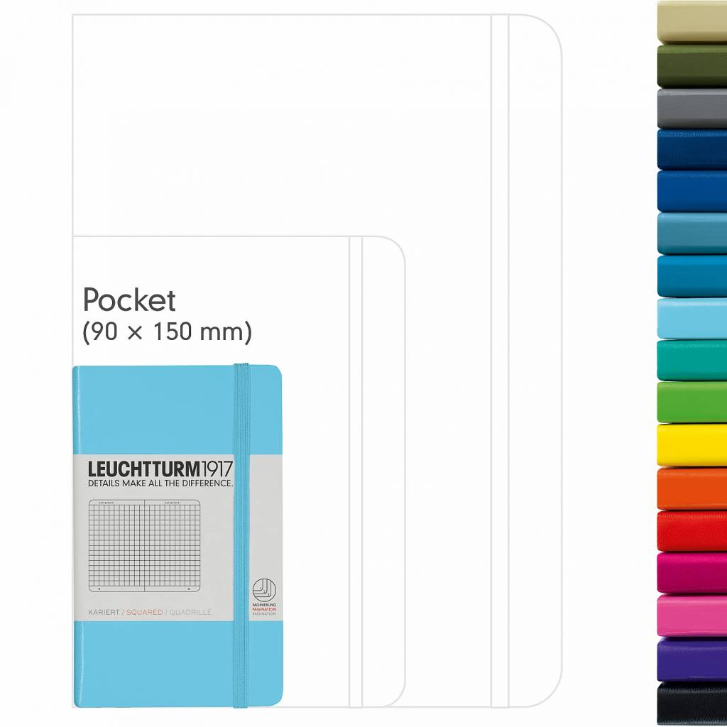 Leuchtturm Albenverlag LT Notizbuch A6 POCKET HC new pink, liniert