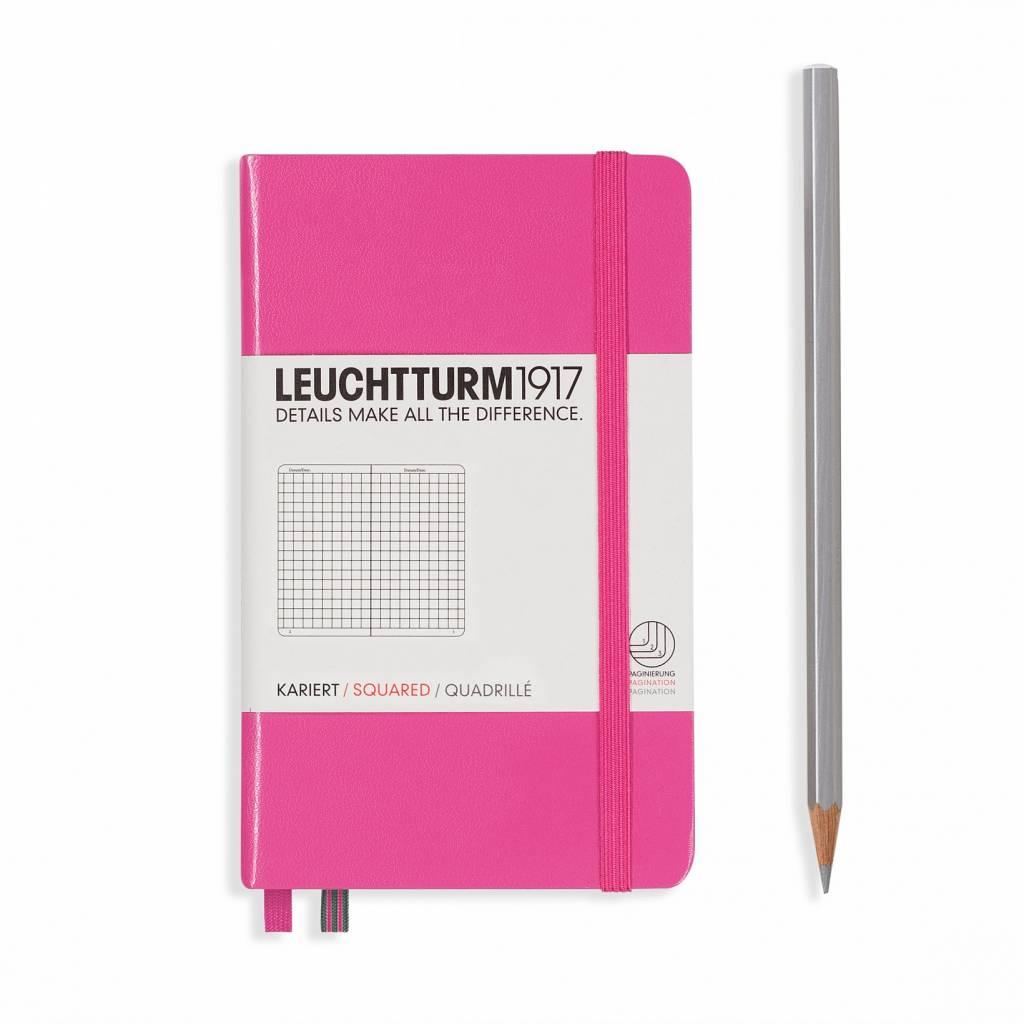 Leuchtturm Albenverlag LT Notizbuch A6 POCKET HC new pink, kariert