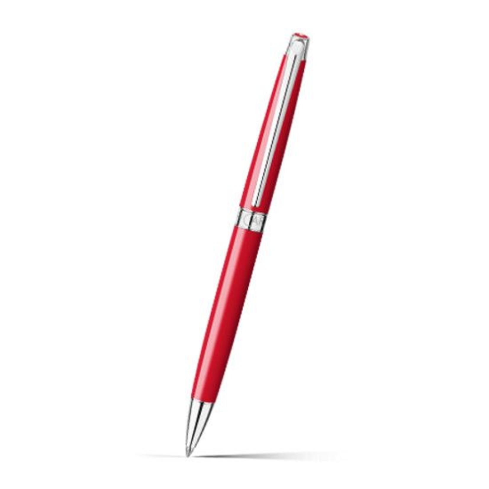 Caran d'Ache LEMAN Kugelschreiber rhodiniert Rot