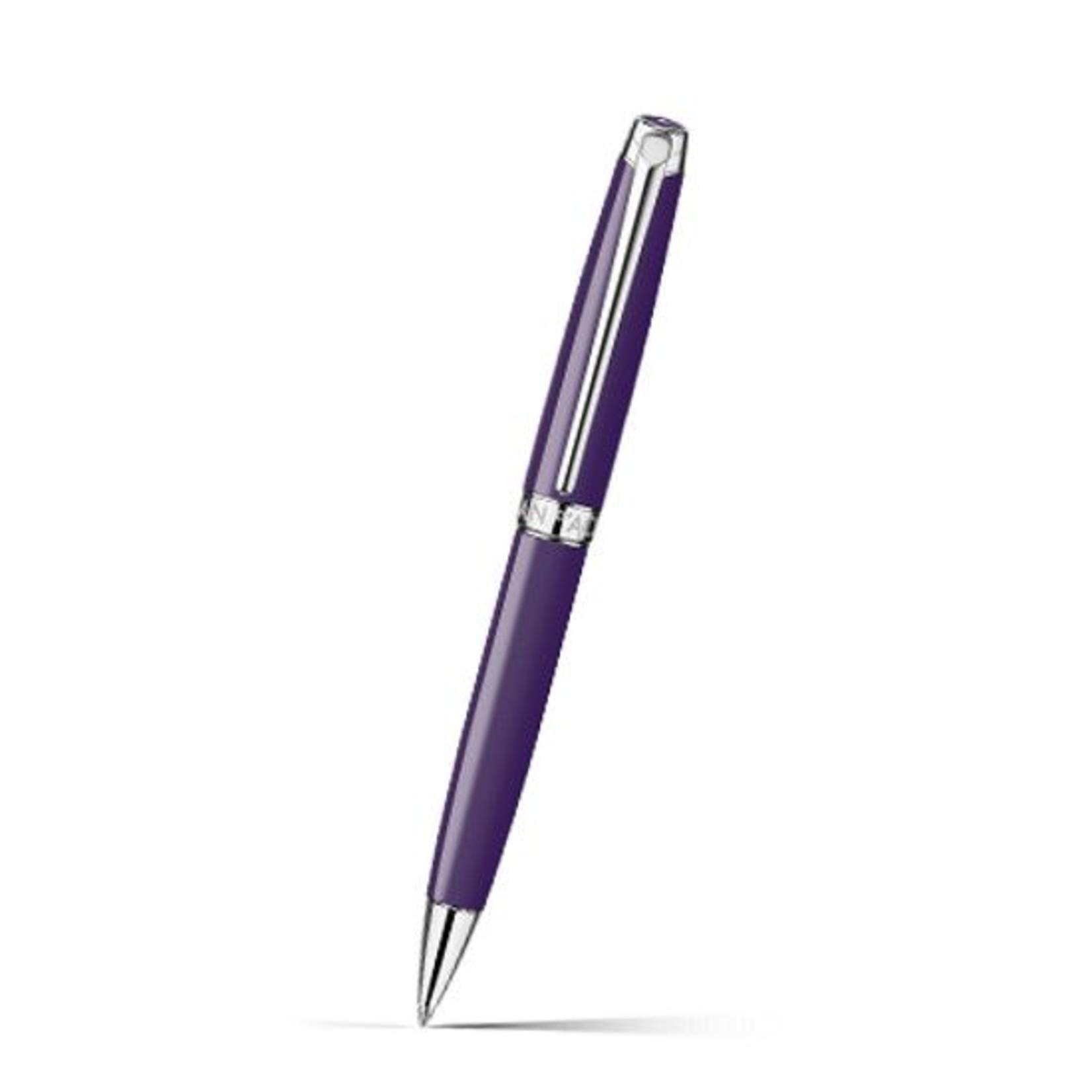 Caran d'Ache LEMAN Kugelschreiber rhodiniert lila