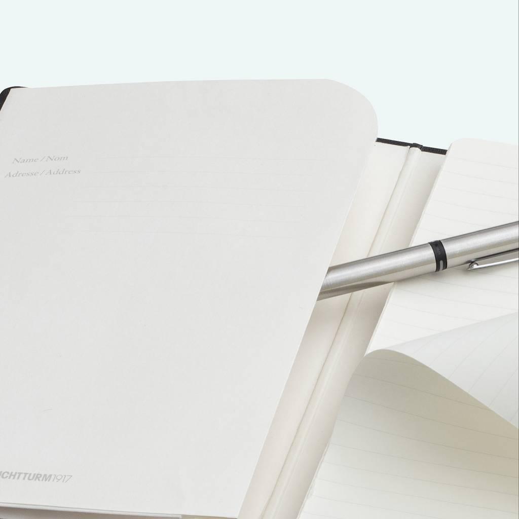 Leuchtturm Albenverlag LT Academy-Block A4 Hardcover schwarz, blanko