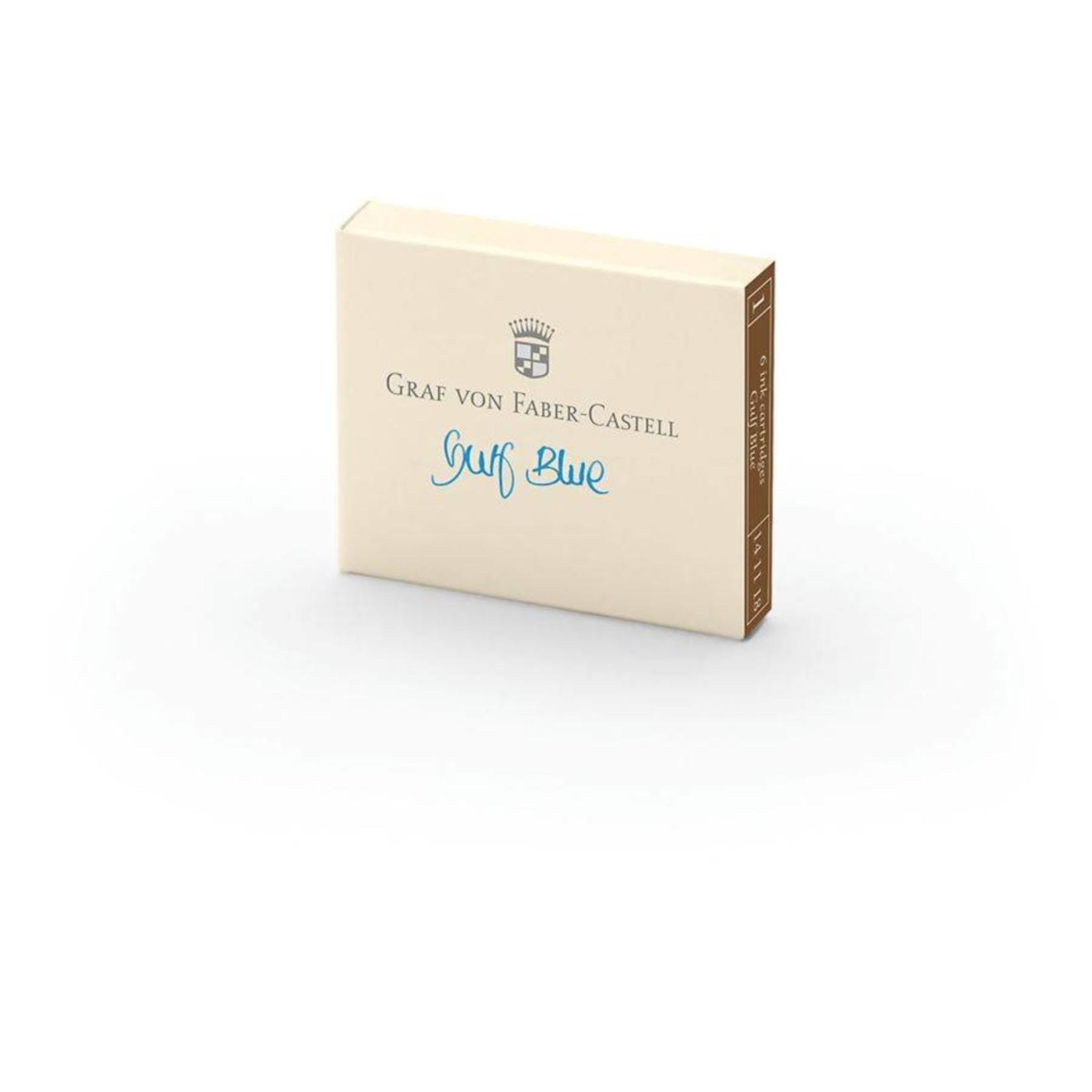 Graf von Faber-Castell GvFC Tintenpatronen 6Stk. Gulf Blue Farbwelten
