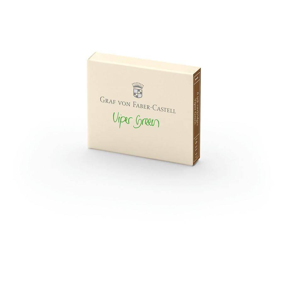 Graf von Faber-Castell GvFC Tintenpatronen 6Stk. Viper Green Farbwelten