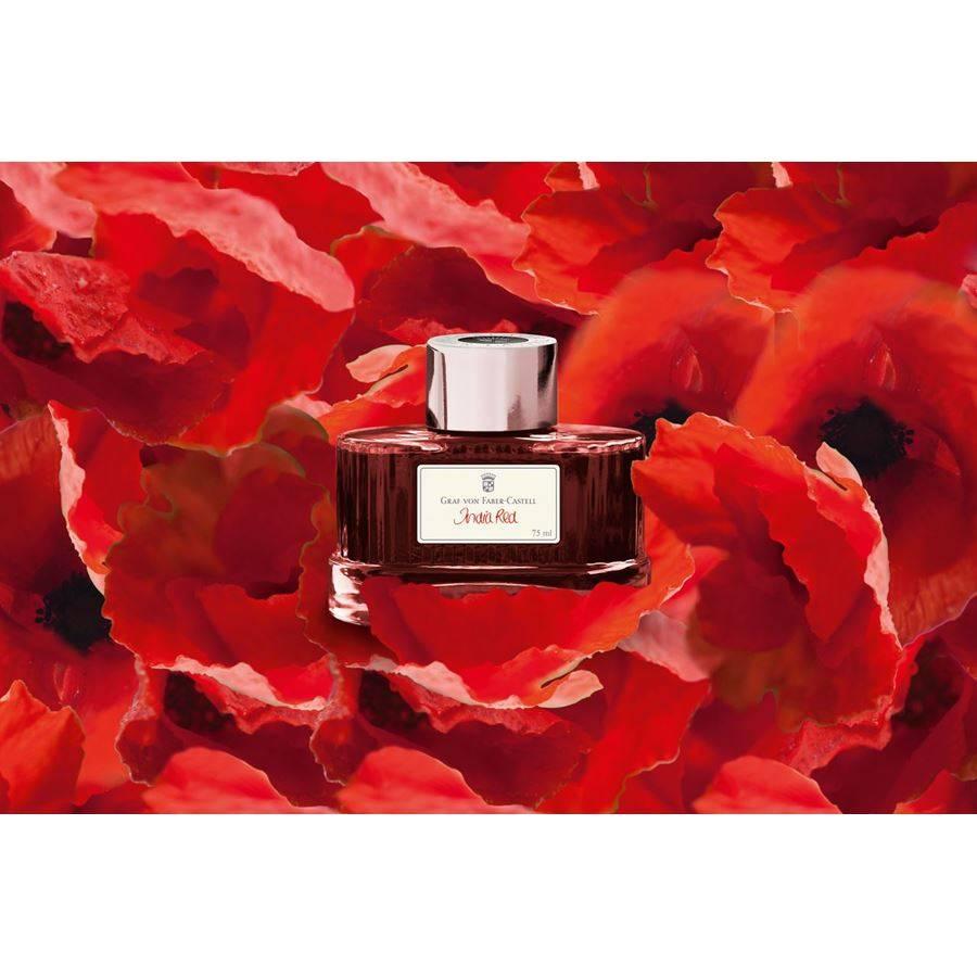 Graf von Faber-Castell GvFC Tintenglas Farbwelten India Red 75ml