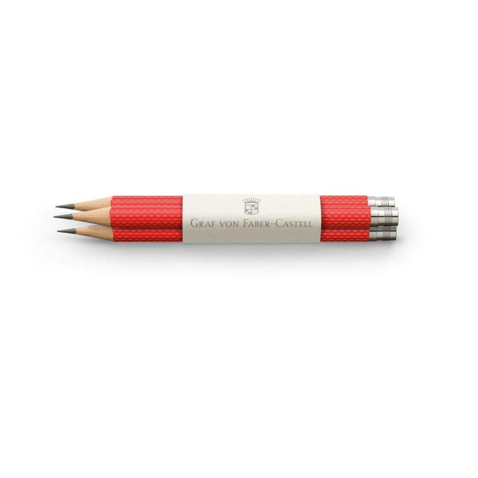 Graf von Faber-Castell Graf von Faber Castell Taschenbleistift Farbwelt India Red 3Stkfür Perfekten Bleistift