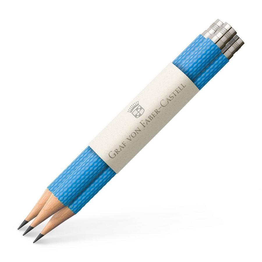 Graf von Faber-Castell Graf von Faber Castell Taschenbleistift Farbwelt Gulf Blue 3Stk für Perfekten Bleistift