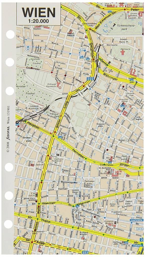 Filofax Filofax Einlage Personal, Stadtplan Wien