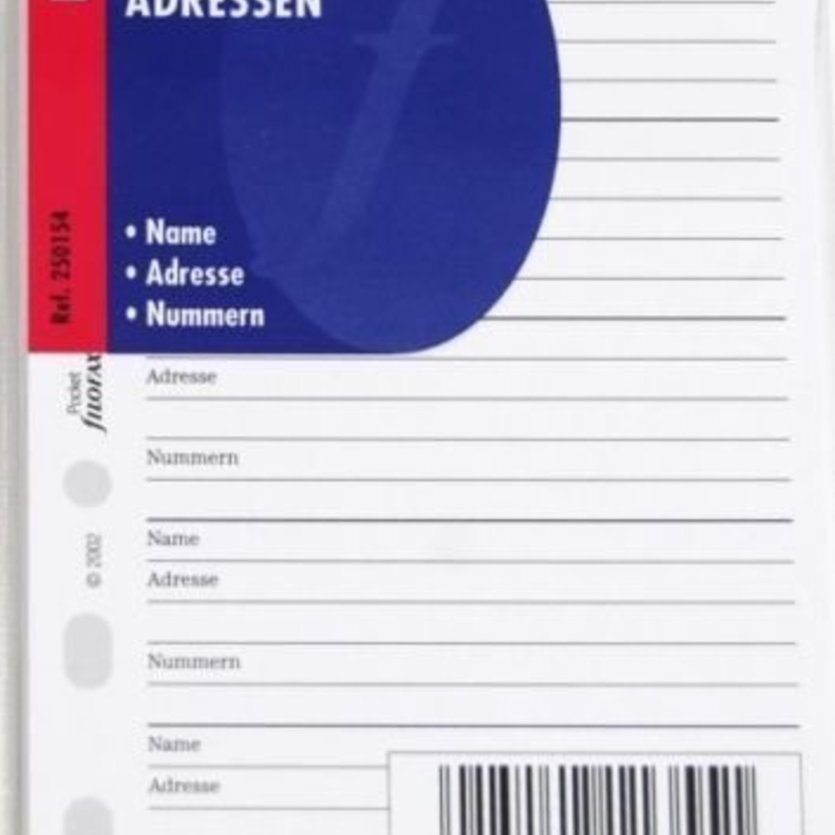 Filofax Filofax Einlage Pocket, Adressen