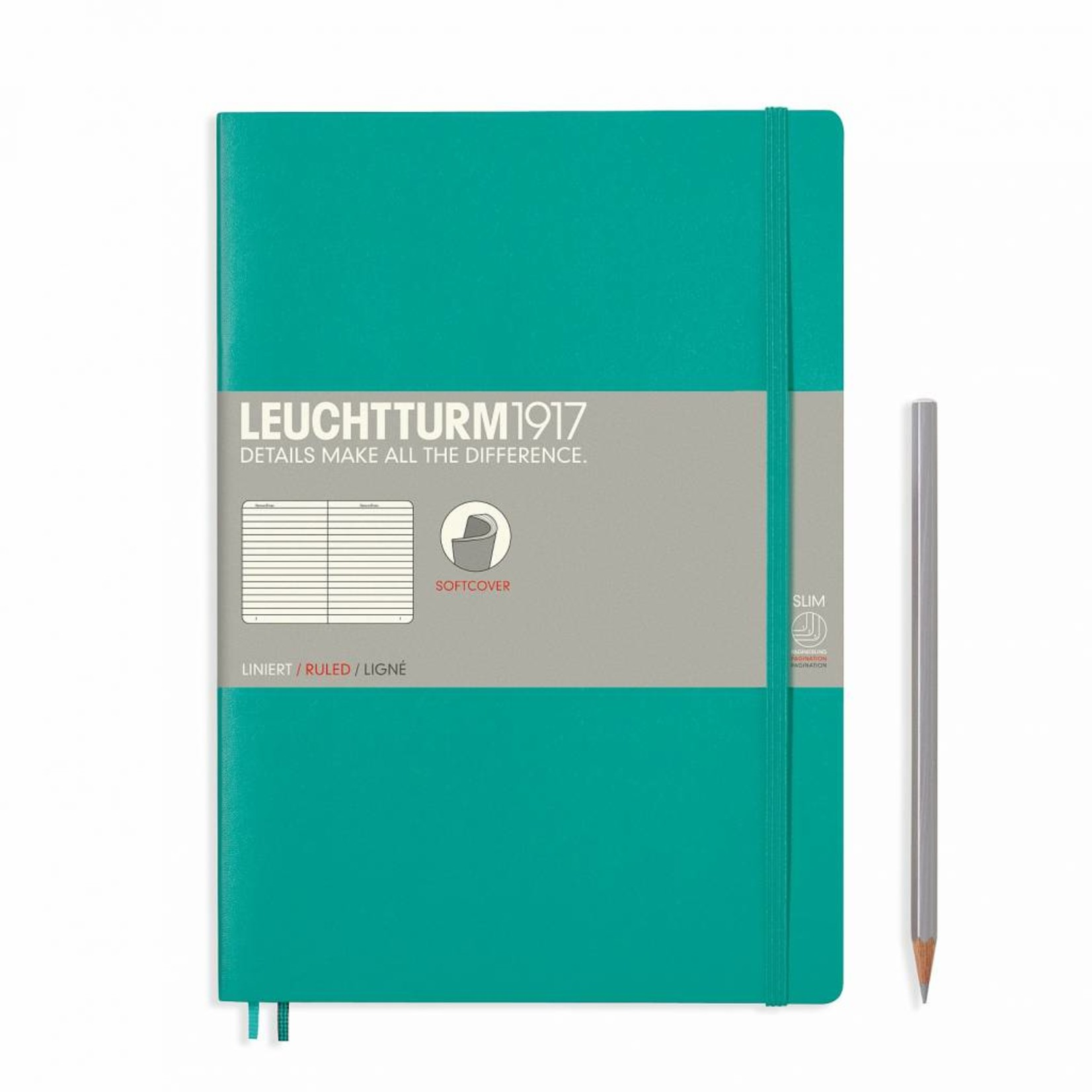 Leuchtturm1917 LT Notizbuch COMPOSITION B5 SC smaragd liniert