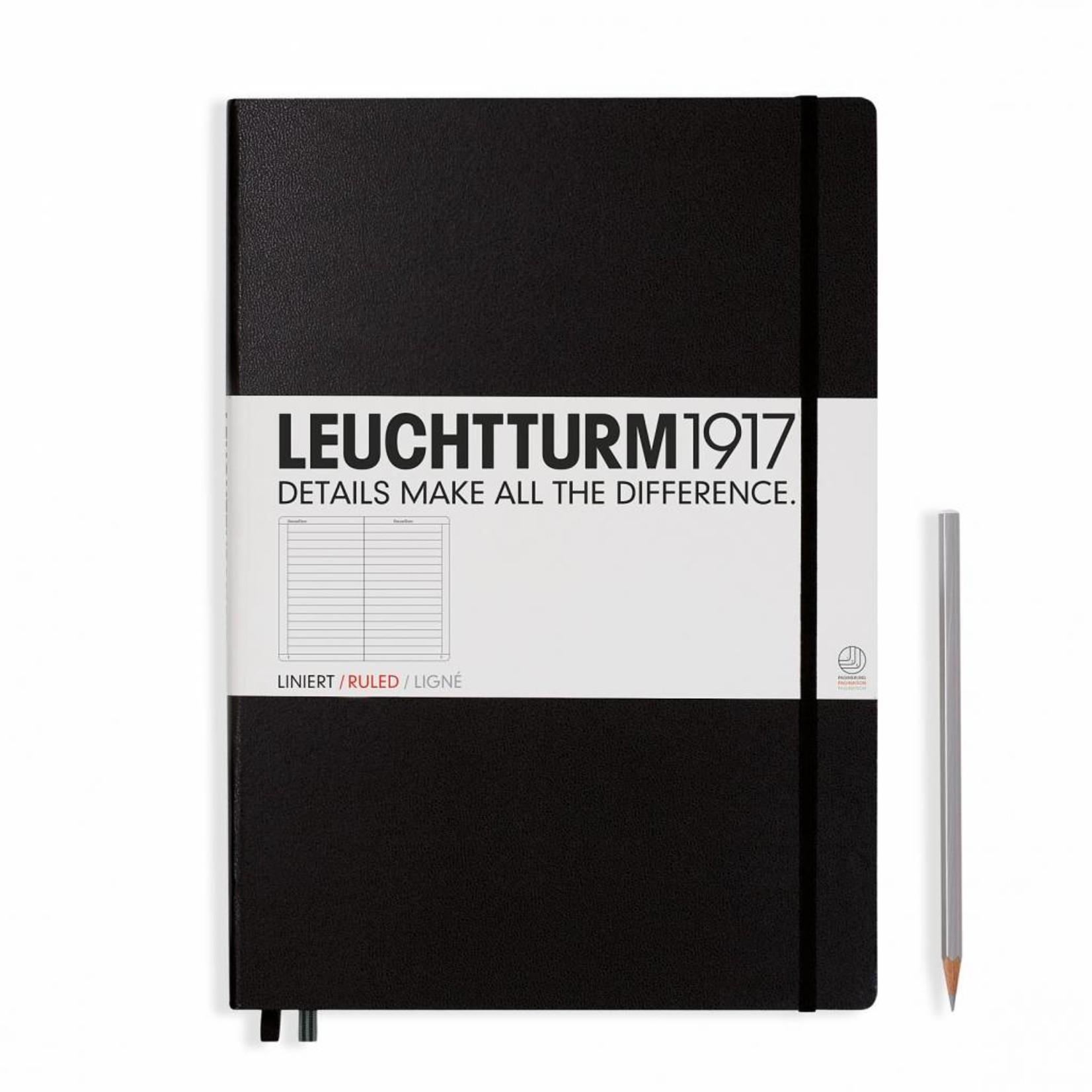 Leuchtturm1917 Leuchtturm1917 Notizbuch, Master Classic, Schwarz, Liniert