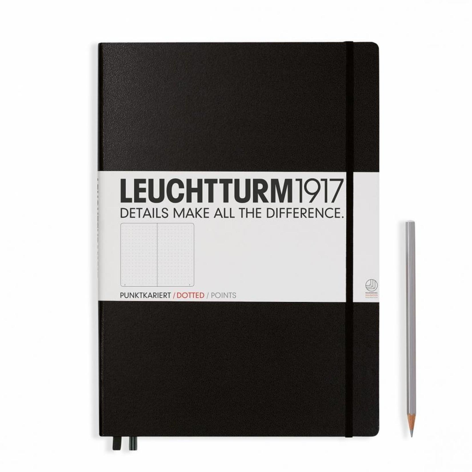 Leuchtturm1917 Leuchtturm1917 Notizbuch, Master Classic, Schwarz, Dotted