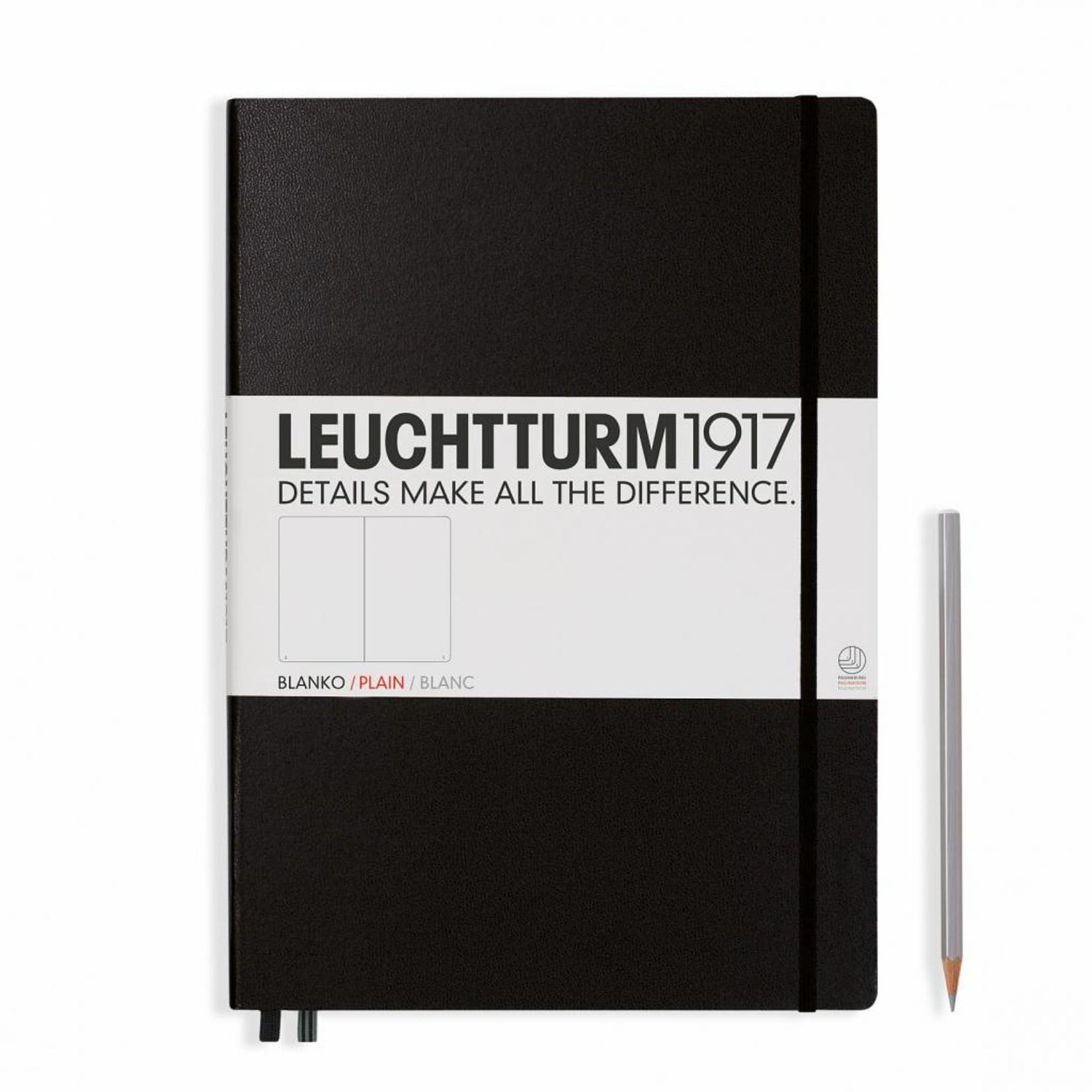 Leuchtturm1917 Leuchtturm1917 Notizbuch, Master Classic, Schwarz, Blanko