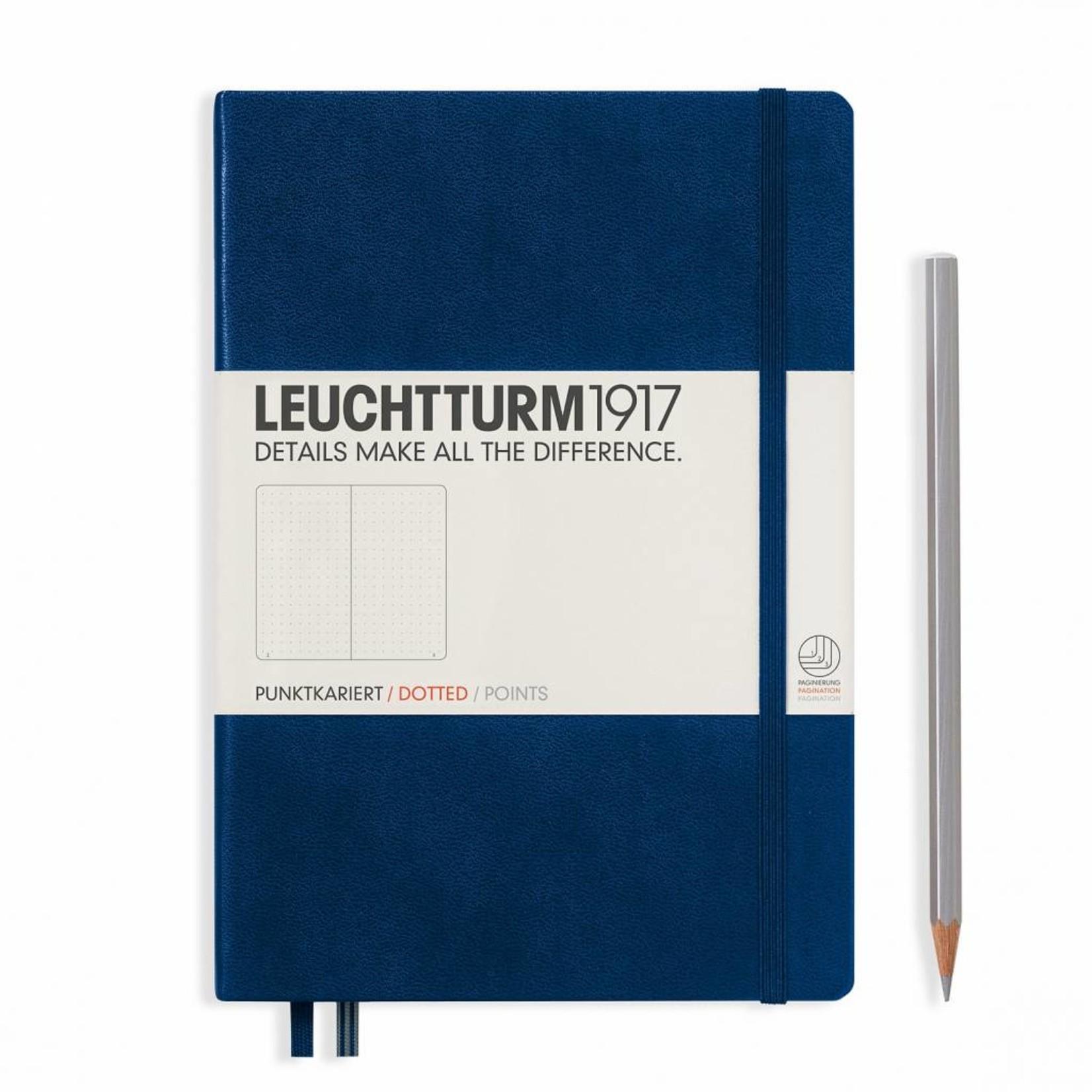 Leuchtturm1917 Leuchtturm1917 Notizbuch, Medium, Marine, Dotted