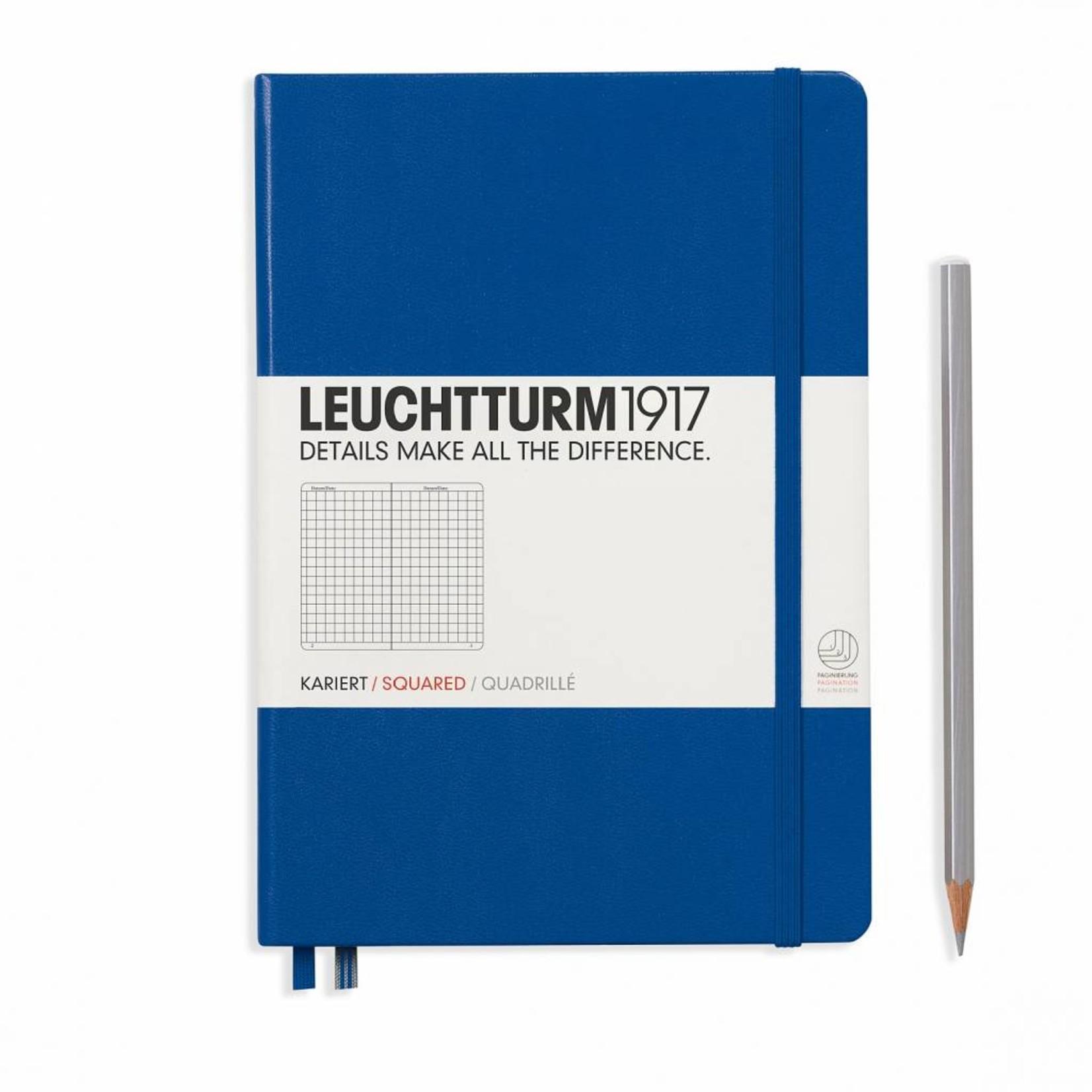 Leuchtturm1917 Leuchtturm1917 Notizbuch, Medium, Königsblau, Kariert