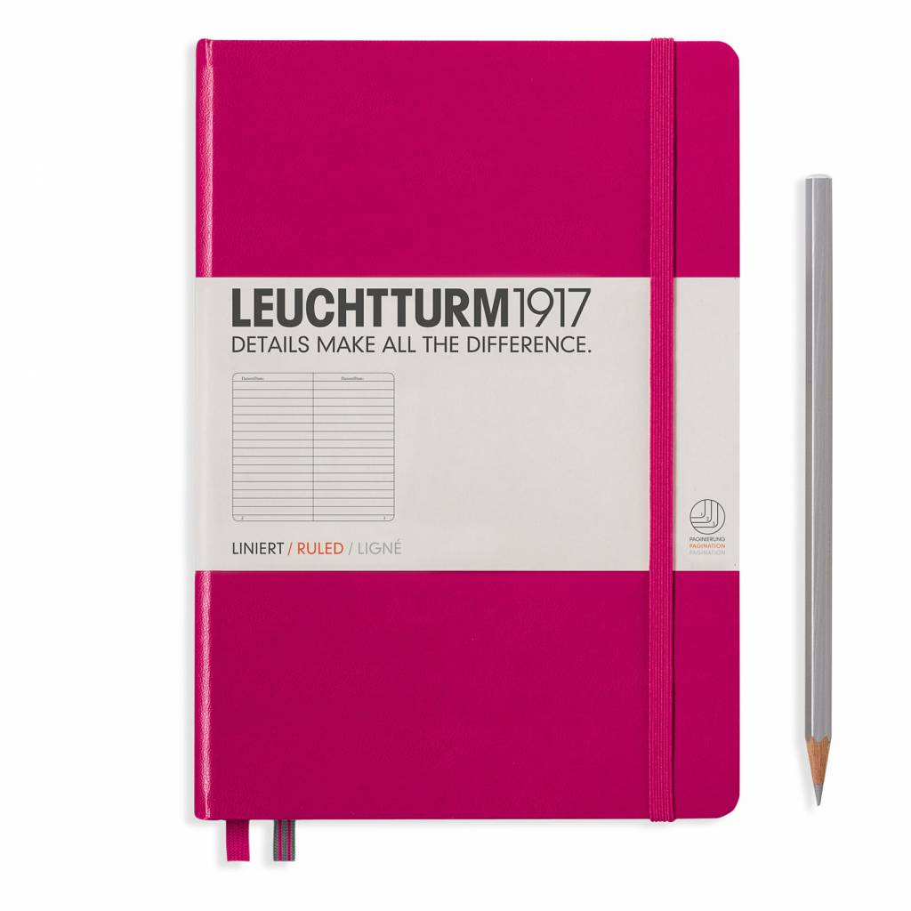 Leuchtturm1917 Leuchtturm1917 Notizbuch, Medium, Beere, Liniert