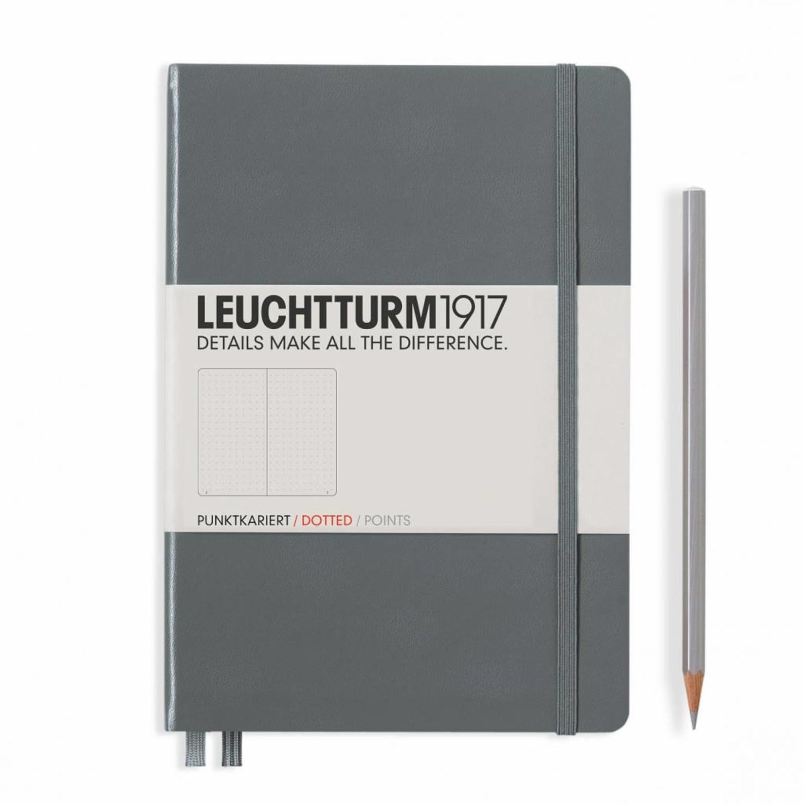 Leuchtturm1917 Leuchtturm1917 Notizbuch, Medium, Anthrazit, Dotted