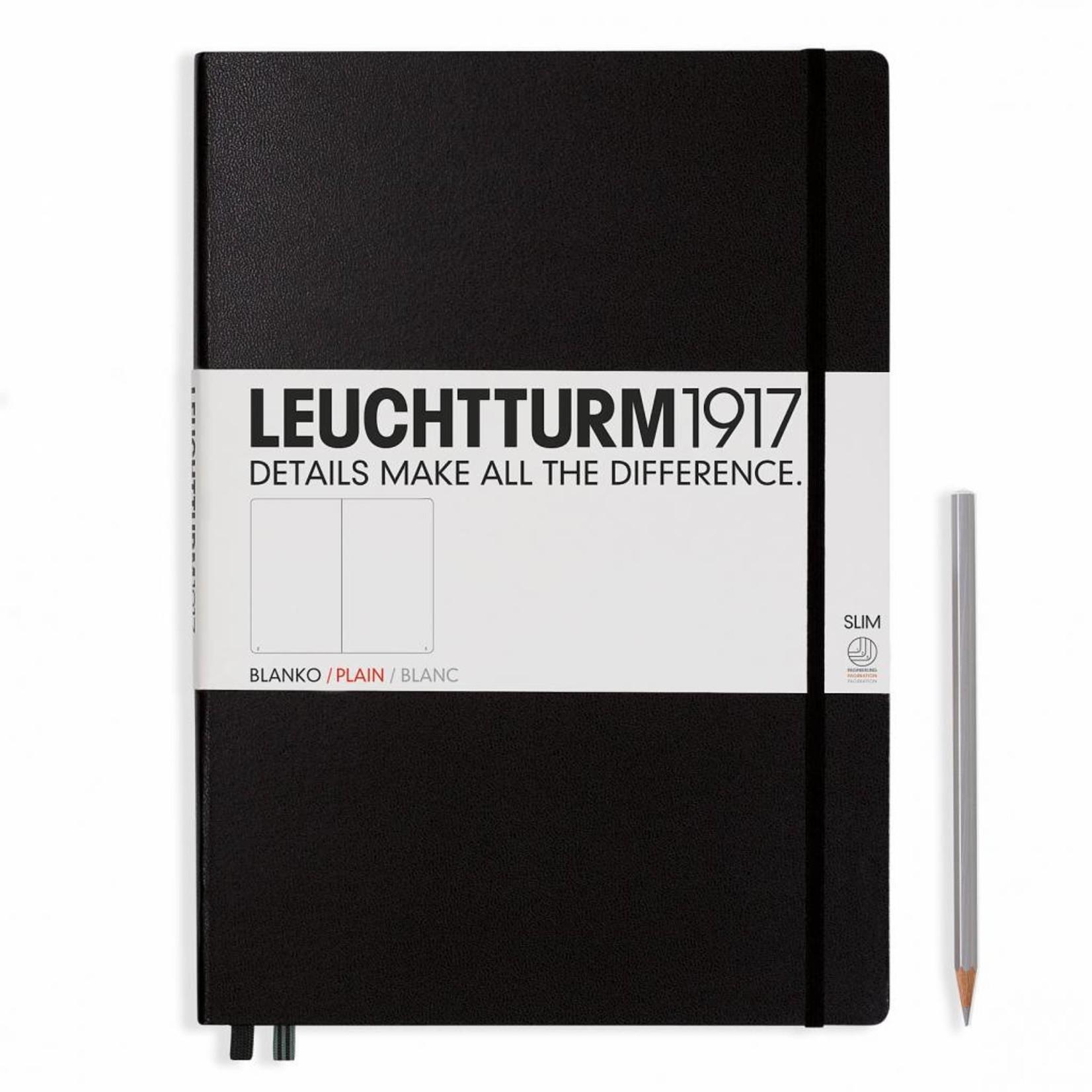 Leuchtturm1917 Leuchtturm1917 Notizbuch, Master Slim, Schwarz, Blanko